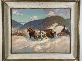 HAROlD MCCREA  lAURENTIAN MOUNTAINS  PAINTING