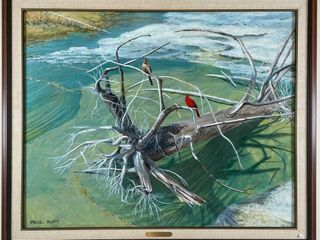 PAUl DUFF  ROOTS  DORCAS BAY  PAINTING