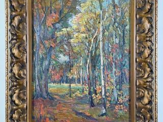 lIllY ADAMS  AUTUMN IN MOORE PARK 1920  PAINTING