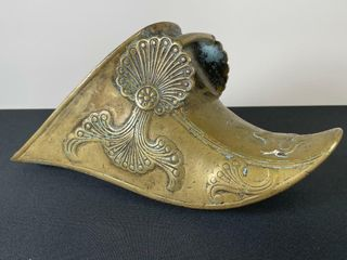 ANTIQUE BRASS MIlITARY FOOT STIRRUP