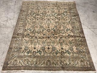 TABRIZ HAND KNOTTED WOOl AREA CARPET 12 8  X 9 9