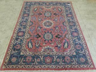 SAROUK HAND KNOTTED WOOl AREA CARPET 11 5  X 16 7
