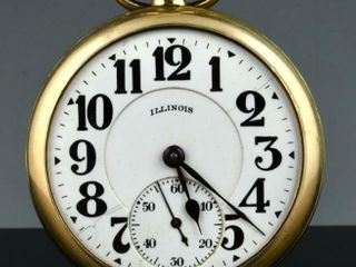 1923 IllINOIS BUNN SPECIAl 21J G F  POCKET WATCH
