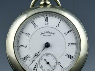 c1887 AMERICAN WAlTHAM APPlETON TRACY POCKET WATCH