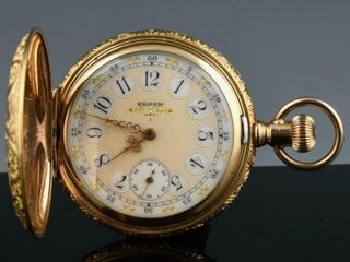 1895 AMERICAN ElGIN G F  FANCY DIAl POCKET WATCH