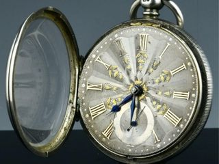 c1874 lONDON STERlING   GOlD DIAl POCKET WATCH