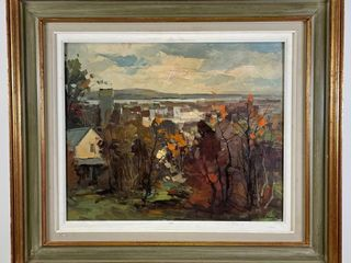 GEZA GORDON MARICH AUTUMN lANDSCAPE PAINTING