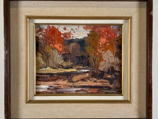 GEZA GORDON MARICH AUTUMN RIVER PAINTING