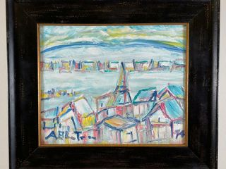 AlBAN BlUTEAU  94 WINTER CITYSCAPE PAINTING