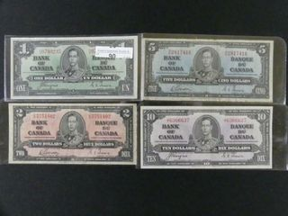 GROUP  1937    1   2   5  AND  10 BANKNOTES
