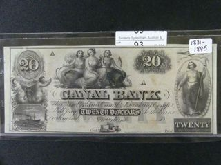 CANAl BANK OF NEW ORlEANS  20 BANKNOTE