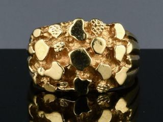 VINTAGE 14K GOlD NUGGET DESIGN RING