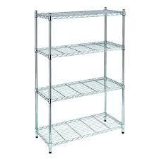 HDX Chrome 4 Tier Metal Wire Shelving Unit  36 in  W x 54 in  H x 14 in  D    MSRP  54 99