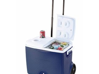 Rubbermaid 45 Qt  Blue Wheeled Cooler   MSRP  39 99