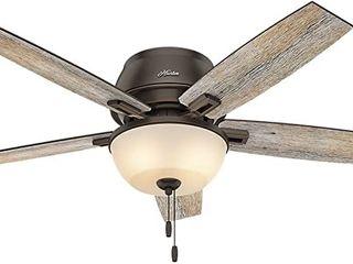 Hunter Donegan Indoor low Profile Ceiling Fan   MSRP  139 99