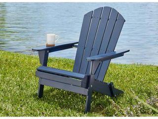 Hampton Bay Adirondack Chair Blue   MSRP  79 99