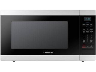 Samsung 1 9 cu  ft  Countertop Microwave with Sensor Cook in Stainless Steel   MSRP  198 00