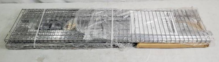 Rubbermaid Deluxe Custom Closet Organizer System Kit  4 to 8 Foot  Titanium   MSRP  199 99