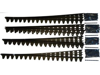 Flexi Pro 48 in  x 2 25 in  x 1 75 in  Black PVC Paver Edging   96 ft   24 Pieces of 48 in  Pro Grade with Spikes   MSRP  105 99