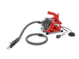 Ridgid 55808 PowerClear Drain Cleaning Machine 120V Drain Cleaner Cleans Tub  Shower or Sink Blockages from 3 4  to 11 2  diameter  Red   MSRP  169 00