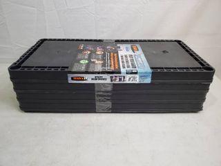 Maxit 4 Shelf light Duty Unit   Black   MSRP  16 99