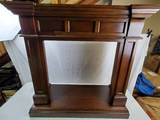 Duluth Forge 44 in  Gas Fireplace Mantel in Auburn Cherry   Mantel Only