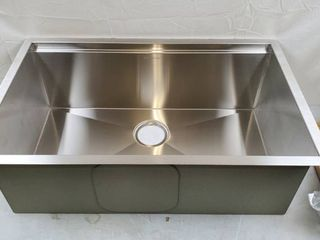 Glacier Bay All in One Undermount Stainless Steel 30 in  Single Bowl Kitchen Workstation Sink with Faucet and Accessories Kit   MSRP  339 00