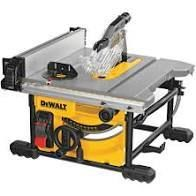 DEWAlT 15 Amp Corded 8 1 4 in  Compact Jobsite Tablesaw   MSRP  399 00