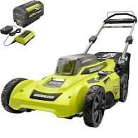 RYOBI 20 in  40 Volt Brushless lithium Ion Cordless Battery Walk Behind Push lawn Mower 6 0 Ah Battery Charger Included   MSRP  269 00