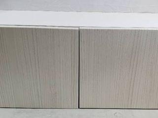 Hampton Bay Designer Series Edgeley Assembled 36x15x12 in  Wall Kitchen Cabinet in Glacier   MSRP  195 99