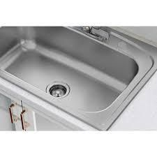Elkay Pergola Drop In Stainless Steel 33 in  4 Hole Single Bowl Kitchen Sink   MSRP  179 00