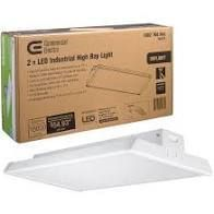 Commercial Electric 18 in  250 Watt Equivalent Integrated lED White Garage High Bay light 5000K Daylight High Output 10000 lumens   MSRP  99 00