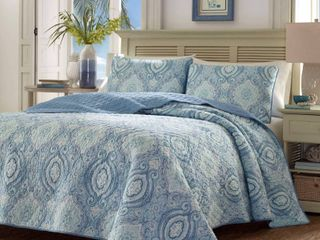 Tommy Bahama Turtle Dove Quilt Sham Set   Full Queen