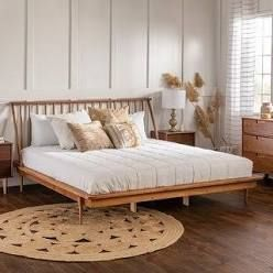 Carson Carrington Blaney Solid Pine Wood Spindle Bed   King