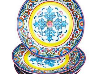 Euro Ceramica Inc  Ceramic Salad Plates   Set of 4