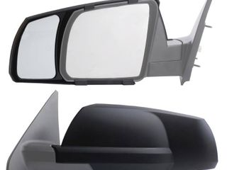 Fit System Snap on Black Towing Mirror for Toyota Tundra Sequoia Pair