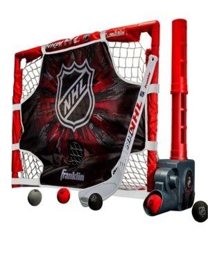 Franklin Sports Knee Hockey Goal Stick Set