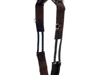 Tough 1 Professional leather w  Cotton Web Training Surcingle