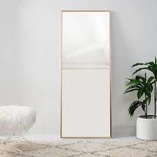 Modern Aluminum Alloy Thin Framed Full length Floor Mirror  Retail 249 49 gold
