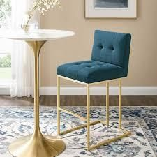 Azure silver orchid brissac gold stainless steel Upholstered fabric bar stool Retail 269 99