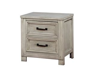 furniture of America much transitional solid wood usb 2 drawer nightstand Antique White  Retail 215 49