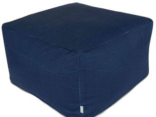 majestic home goods indoor outdoor blue solid ottoman pouf Navy  Retail 97 49