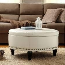 Copper Grove Payara Round Storage Ottoman with Flip Top Surface  Retail 239 98 cream