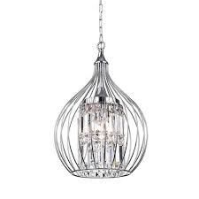 Acatia 3 light Chrome Foyer Pendant  Retail 165 49 silver finish