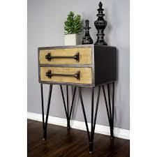 soho short century wood and metal with legs lake park furniture and decor black