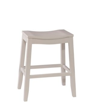 Hillsdale Fiddler Backless Non Swivel Bar Stool  White Finish 1 only