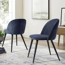 mid century modern zomba terry fabric Blue chairs