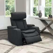 abbyson cosmo fabric theater power recliner charcoal