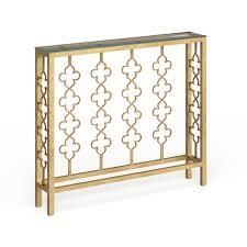 savory antique gold glad top console table carolina living