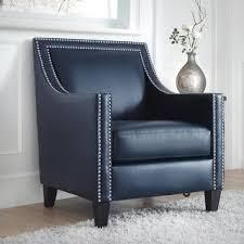 copper Grove ran nailhead armchair kennedy faux leather navy